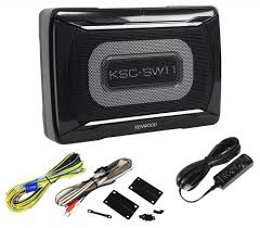 kenwood subwoofer home theater kenwood ksc sw11 150 watt compact slim powered subwoofer w bass