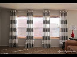 Horizontal Stripe Curtains Striped Curtains Horizontal Striped Curtains Diy Youtube