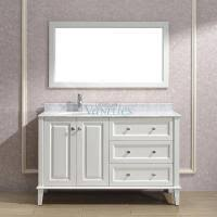 56 inch single sink bathroom vanity with extra drawer bank