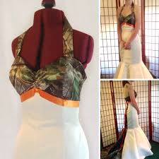 camo and orange wedding dresses you had me at camo camo and orange wedding dress