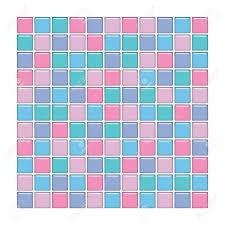 Mosaique Bleu Salle De Bain by Salle De Bains Avec Mur Bleu Vert Rose Et Violet Carreaux De