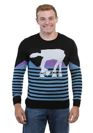 star wars at at walker ugly christmas sweater for men