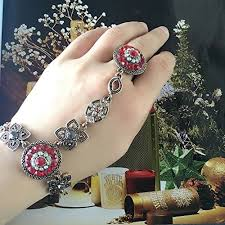 bangle bracelet with ring images Buy shining diva fashion jewellery stylish party wear wedding jpg