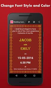 wedding invitations maker wedding card maker android apps on play