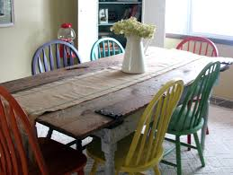 Making A Dining Room Table by Remodelaholic Old Barn Door Recycled Into Kitchen Table