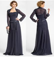2015 modest navy blue chiffon mother of the bride dress sweetheart