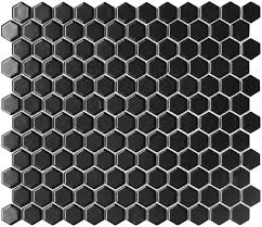 in black bathroom mosaic patternclassic white mixed black hexagon