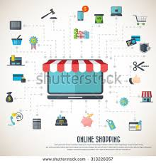 Awning Online On Line Store Desktop Icon Awning Stock Vector 295644086