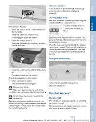 Bmw Comfort Access Key Remote Control Bmw 535i Xdrive 2011 F10 User Guide