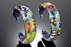 glass bracelet images Tide pool art glass bracelet jguires jpeg