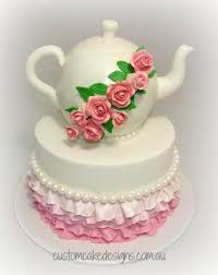 kitchen tea cake ideas kitchen tea teapot cake cake by custom cake designs cakesdecor