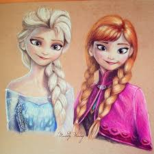 pencil drawings frozen characters free