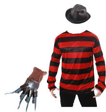 freddy krueger costume freddy krueger costume hat jumper mask and glove fancy