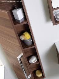 Tall Bathroom Cabinets Aquatrend Designer Modular Tall Bathroom Cabinet Avola Grey