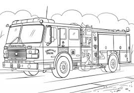 fire truck ladder coloring free printable coloring