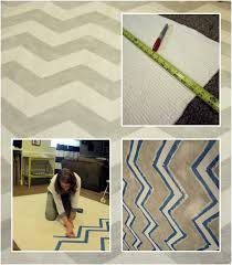 Rug Painting Ideas Smartgirlstyle How To Paint A Rug Chevron