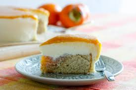 persimmon kaki cake with white chocolate truffle frosting oh