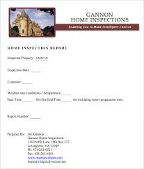 part inspection report template sle home inspection report template 9 free word pdf