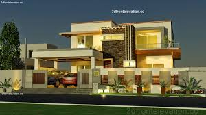 2 floor house 3d front elevation com portfolio