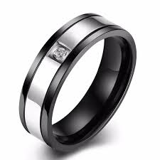 stainless steel rings for men men s stainless steel rings zirconia embroidery jewelry 316l steel