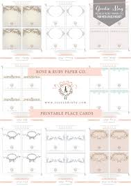 printable place cards printable place card set by ruby paper co