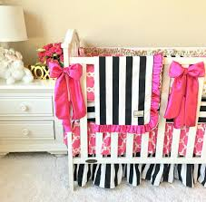 Fancy Crib Bedding Black And White Stripe With Gold Crib Sets For Fancy