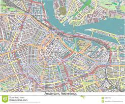 Map Of Amsterdam Amsterdam Netherlands Hi Res Aerial View Map Illustration 38623170