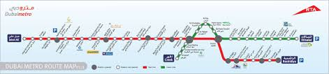 Metro Link Map by Dubai Cruise Port Guide Cruiseportwiki Com