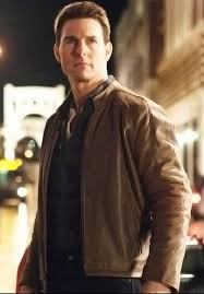 Tom Cruise Home by Tom Cruise Jack Reacher Leather Jacket