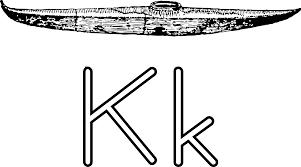 clipart letra k de kayak