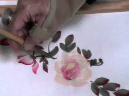 roses china roses brush painting demonstration by to