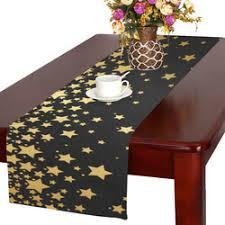 gold star table runner tatanka with stars gifts artsadd