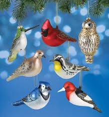 cobane studios blown glass bird ornament collection set of 7