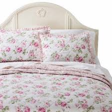 simply shabby chic pretty pink garden rose twin bed floral quilt