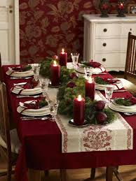 dining room christmas decor interesting table setting ideas for christmas dinner 33 on home