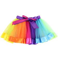 Curtain Call Costumes Size Chart by Amazon Com Girls U0027 Layered Rainbow Tutu Skirt Dance Dress Colorful