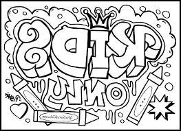 cool design coloring pages graffiti creator page stencils 468273