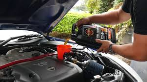 nissan skyline oil filter how to change your oil and oil filter 350z youtube