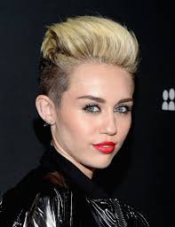 what s a undercut styling her undercut style into a pompadour miley cyrus u0027s bold