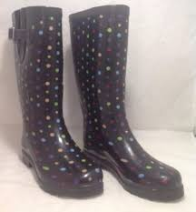 target womens boots black merona for target boots s size 6 black w polka dots