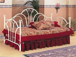 white metal twin daybed with trundle cadel michele home ideas