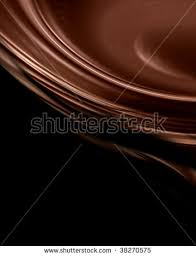 molten chocolate some smooth lines stock illustration 12456973