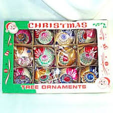 box 1950s poland fantasia indent glass ornaments
