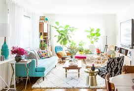 colorful mid century glam living room makeover glam living room