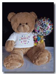 Engraved Teddy Bears Sweet Sixteen Personalized Teddy Bear Happy 16th Birthday Teddy