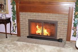 fireplace screen with glass doors airculator fireplace heat exchanger cascade coil