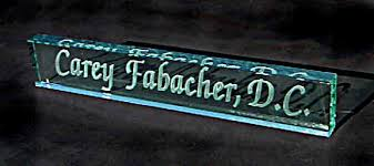 etched glass desk name plates personalized jade glass desk name plate crystal images inc