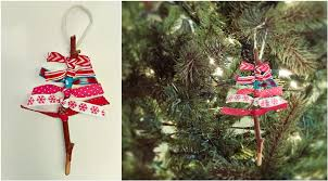 crafting week diy rustic ribbon ornament this s