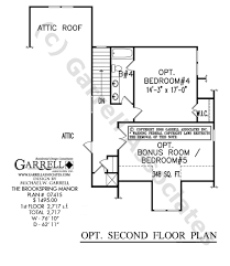 One Story Floor Plans With Bonus Room by Brookspring Manor House Plan Active House Plans