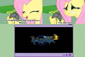 Wii U Meme - 97624 bayonetta exploitable meme fluttershy meme pony safe
